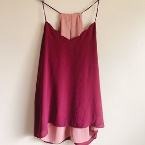 EXPRESS (REVERSIBLE) Scalloped-Neck Camisole